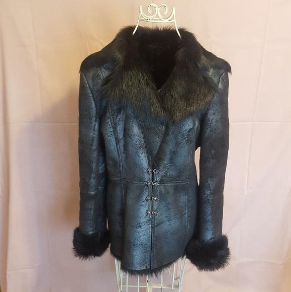 7497647f Versace Sherling Fur Sheepskin Jacket Coat